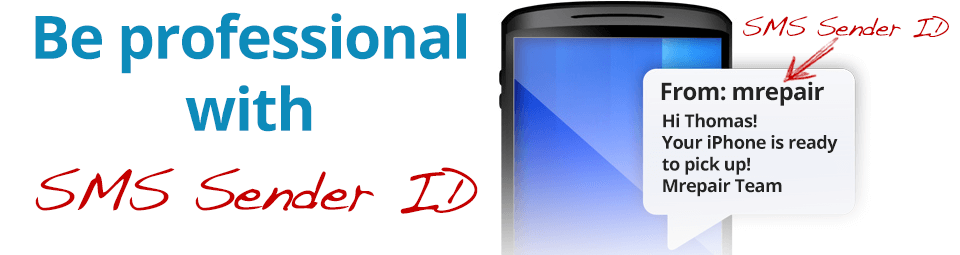 be professional sms sender id